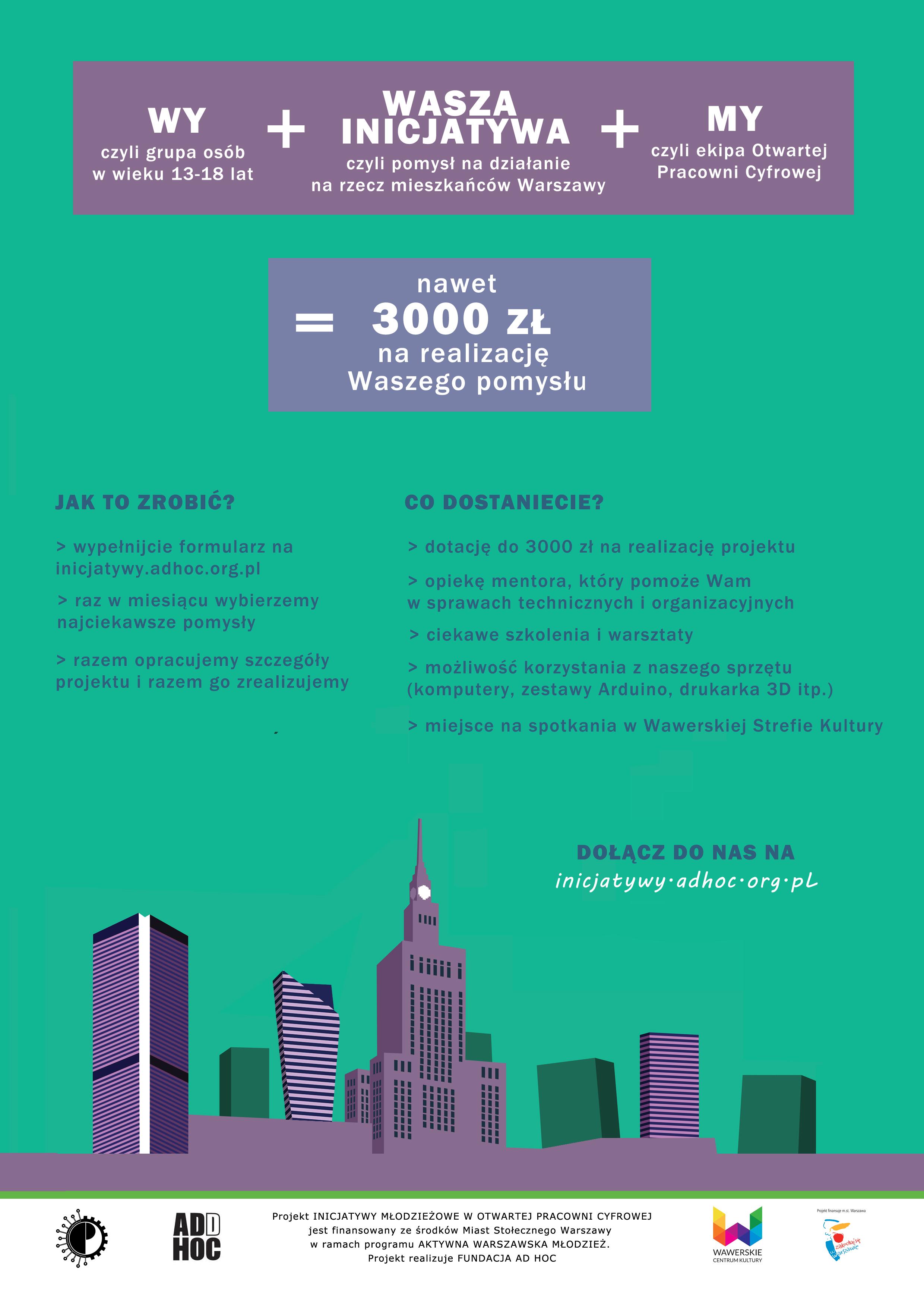 Plakat inicjatywy młodzieżowe